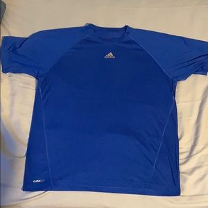 Adidas Blue Climalite Workout T-Shirt